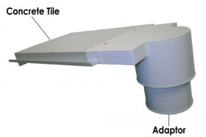 'Concrete' Tile Roof Venting Out Kit